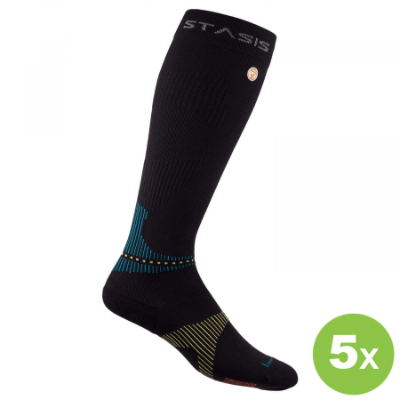 5 Paar | VOXXLife Neuro Socks ATHLETIC KNEE HIGH - schwarz (SPARPAKET)