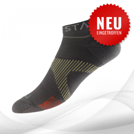 VOXXLife Neuro Socks ATHLETIC NO-SHOW - stahlgrau